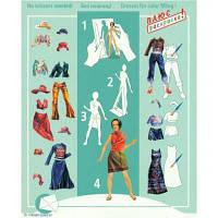 Игровой набор Умная бумага Кукла-наряжайка Вечеринка (66)