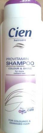 """Шампунь для волос """"Cien colour & shine for more radiant hair """" 0.300 мл."""
