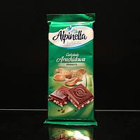 Молочный шоколад с измельчённым арахисом Alpinella Peanuts
