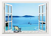 Наклейка виниловая Пейзаж Пляжный курорт