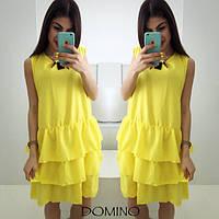 Свободное платье с воланами. Цвета 3021 Роланда 5053