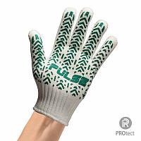 Перчатки трикотажные с ПВХ покрытием арт. 103 (83 грамма) Белая, Оранжевая, Черная