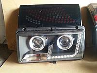 Передние+задние фары на ВАЗ 2107 №6 черные., фото 1