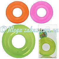 Надувной круг для плавания Intex 59260, 3 цвета: 76см