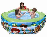 Яркий детский надувной бассейн Intex 57490, шестигранный, 3 кольца
