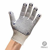 Перчатки хб с ПВХ покрытием арт. 111 (55 грамма) Белая