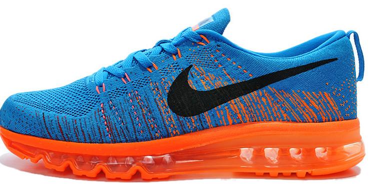 b8f3f025 Мужские Кроссовки Nike Flyknit Air Max 2015 Orange/Blue — в ...