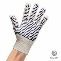 Перчатки рабочие трикотажные с ПВХ покрытием арт. 526 (60 грамма) Белая, Оранжевая, Черная, Синяя