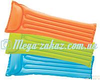 Надувной пляжный матрас Интекс, 3 цвета: 183х69см (Intex 59703)