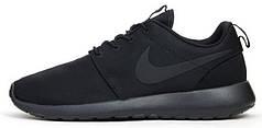 Мужские кроссовки Nike Roshe Run Double Black, найк роше ран