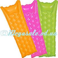 Надувной пляжный матрас Интекс, 3 цвета: 183х69см (Intex 59718)