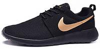 Мужские кроссовки Nike Roshe Run Black/Yellow, найк роше ран