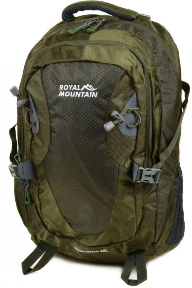 Практичный туристический рюкзак 45 л. Royal Mountain 8463 dark-green темный зеленый