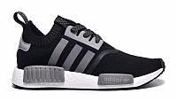 "Мужские Кроссовки Adidas NMD Runner PK ""Black Grey"" (Копия ААА+), фото 1"
