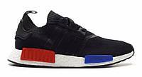 "Кроссовки Adidas NMD Runner PK ""Black Blue Red"" (Копия ААА+), фото 1"