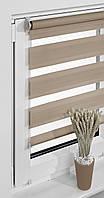 Рулонные шторы балконные 69*230см Кофе латте Vidella Zebra