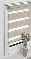 Рулонные шторы балконные 69*230см Натуральный темный Vidella Zebra