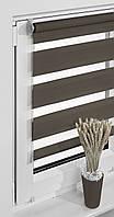 Рулонные шторы балконные 69*230см Коричневый Vidella Zebra
