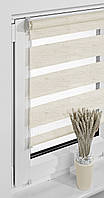 Рулонные шторы балконные 69*230см Натуральный светлый Vidella Zebra