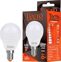 Led лампочка Tecro TL-G45-6W-3K-E14