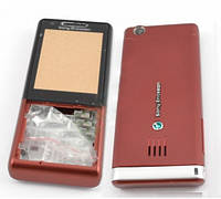 Корпус для Sony Ericsson J105 Naite, High Copy, Красный