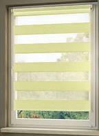 Рулонные шторы 64*160см Оливковый Vidella Zebra