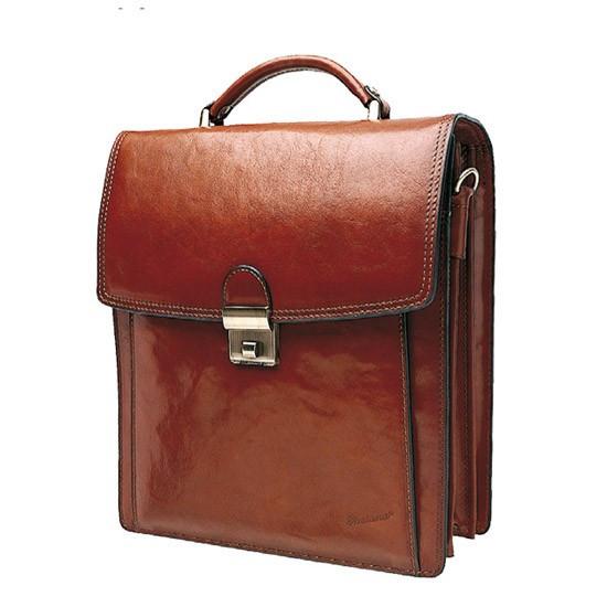 Мужской вертикальний портфель на  отделения