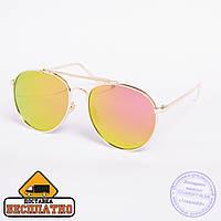Солнцезащитные очки авиатор - золотые - 9-3