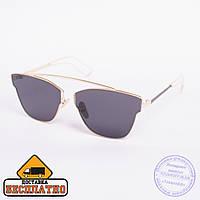 Солнцезащитные очки золотистые с бесплатной доставкой - 2838, фото 1