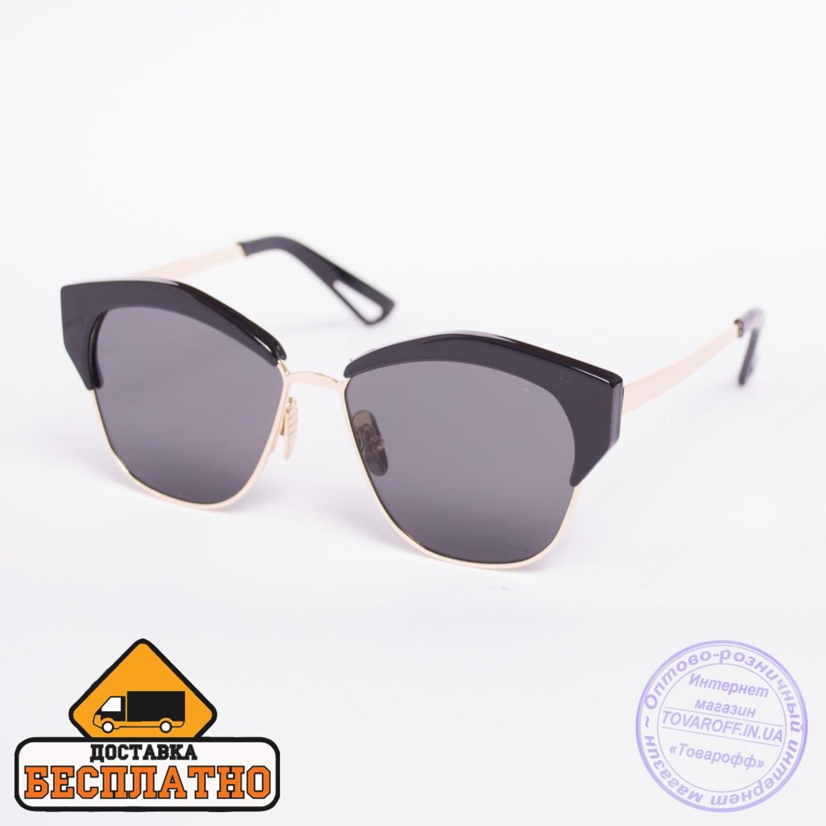 Солнцезащитные очки броулайнер черные - 2832