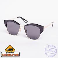 Солнцезащитные очки броулайнер черные - 2832, фото 1