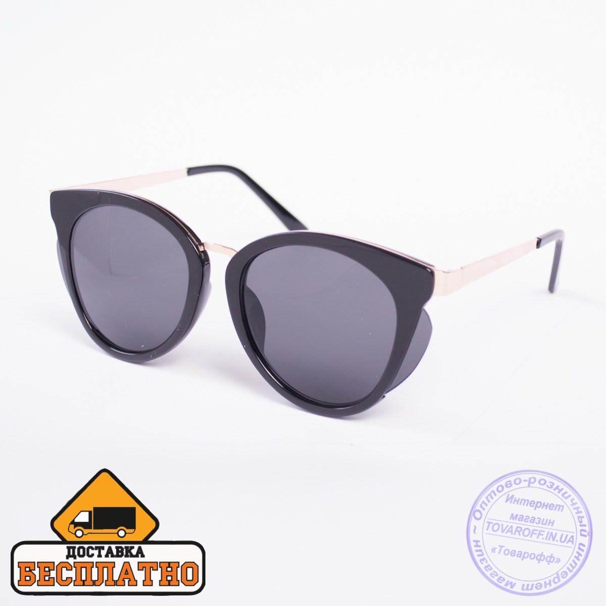 Солнцезащитные очки черные - 2817