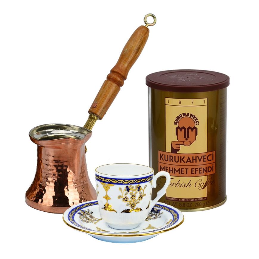 Кофе турецкий молотый 250 г kahve (Turkish Coffee)-MEHMET EFENDI Ж/Б