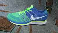 Мужские кроссовки для лета Nike Flyknit Trainer голубые с бирюзой blue lagoon новая модель лето