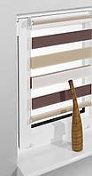 Рулонные шторы 75*160см Белый/латте/коричневый Vidella Zebra Trikolor