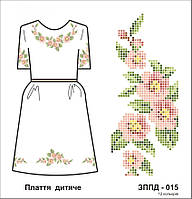 Заготовка для вышивания детского платья с цветами