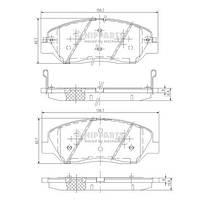 Передние тормозные колодки Hyundai Santa Fe 06- Kia Sportage 06-