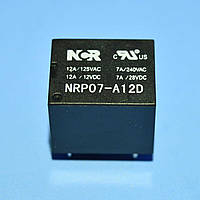 Реле 12V 1группа  NRP07-A12D-7A (7А 240V) герметичное 4pin  off-on  NCR