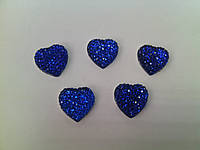 Стразы клеевые сердечки синие