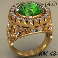 Представительский Золотой Мужской Перстень 585 пробы