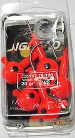 Джиг головка *RED*10 gr#2/0*5 pz Trabucco