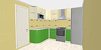 Салатовая кухня изготовление на заказ