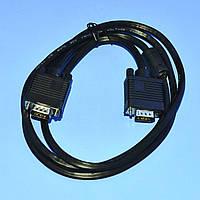 Шнур VGA штекер-штекер Intex, черный,  3.0м  KOM0161