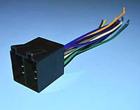 Разъем для а/магнитолы гнездо (клеммы-штекера) Euro ISO-16 сдвоенный (питание+колонки)