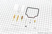 Ремонтный к-кт карбюратора 150сс, 15 деталей+поплавок  (скутер 125-150куб.см)
