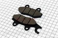 Тормозные колодки дисковые с ухом передние к-т(2шт.)  (скутер 125-150куб.см)