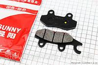 Гальмівні колодки дискові з вухом передні к-т(2шт.) SUNNY (скутер 125-150куб.см)