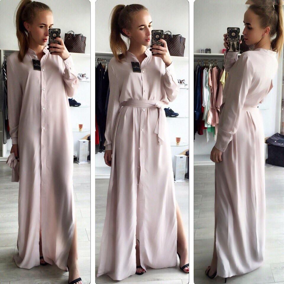ca34b5d5e96 Платье -рубашка в пол