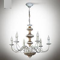 Люстра 6 ламповая для гостиной, зала, большой комнаты с высокими потолками 19666