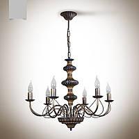 Люстра 6 ламповая для гостиной, зала, большой комнаты с высокими потолками